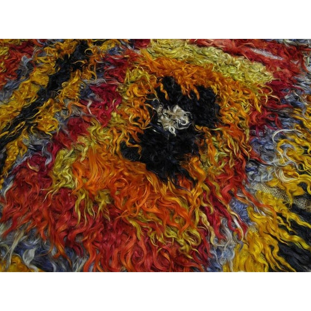 Four Squares, Angora Tulu Rug For Sale - Image 4 of 10