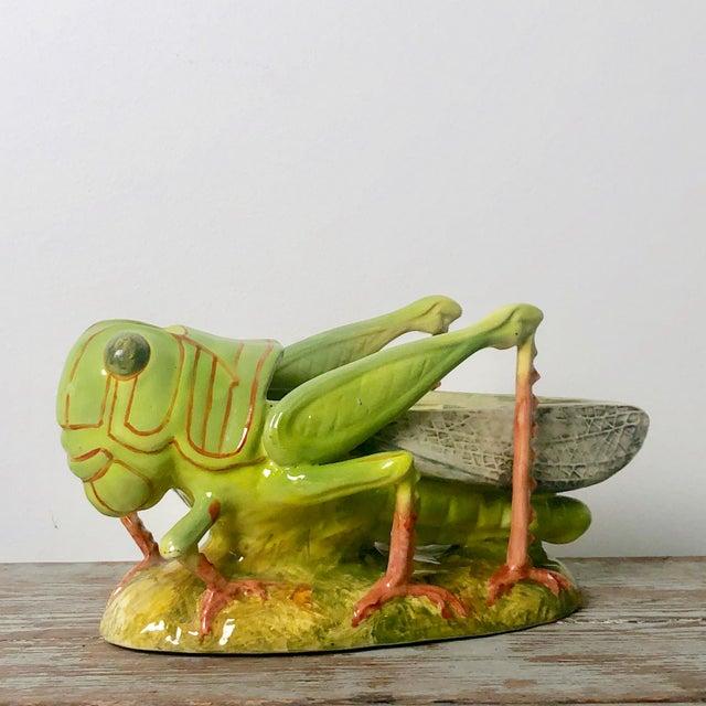 Ceramic French Majolica Grasshopper For Sale - Image 7 of 7