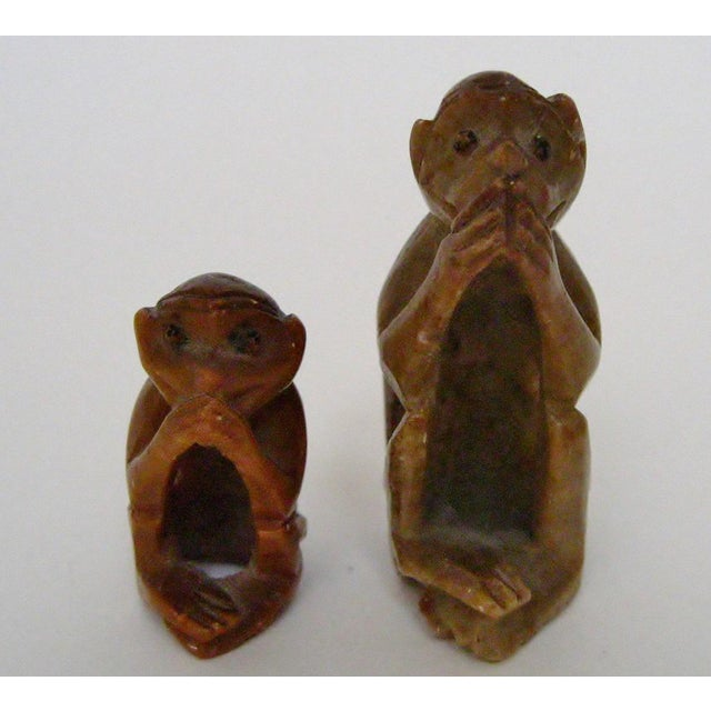 Carved Stone Monkeys - A Pair For Sale - Image 4 of 6