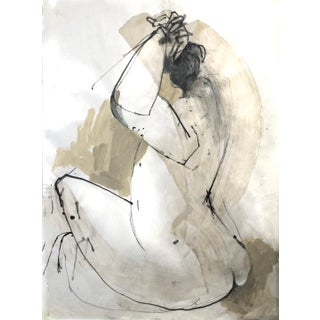 Contemporary Figurative Abstract Mixed-Media Encaustic Wax Drawing For Sale