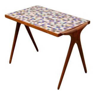 Mid-Century Modern Vladimir Kagan Sculptural Mosaic Side Table For Sale