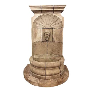Antique Bacchus Wall Fountain For Sale