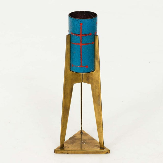 Mid 20th Century Set of Four Italian Enamel Votives For Sale - Image 5 of 13