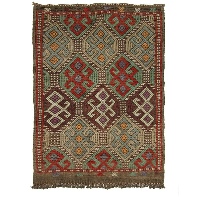 "Vintage Turkish Kilim - 3' X 3'5"" - Image 1 of 3"