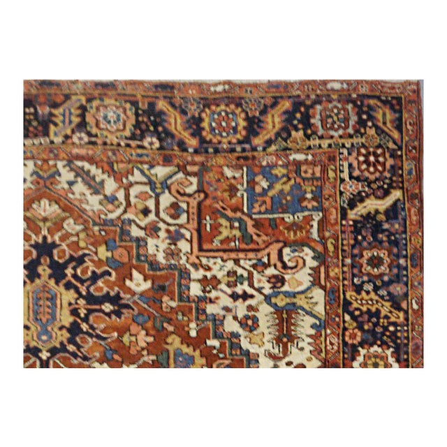 Antique Persian Heriz Rug - 9 x 11.10 - Image 2 of 9