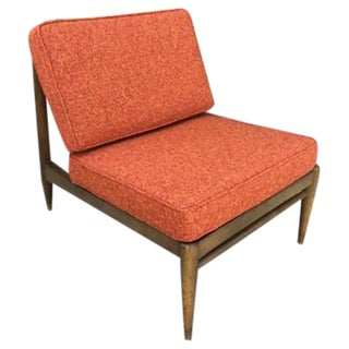 Orange Mid Century Modern Lounge Chair