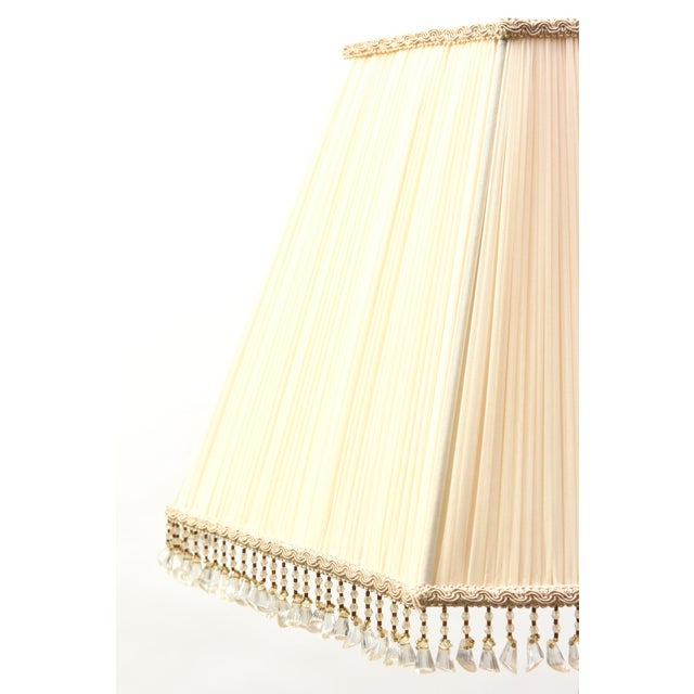 Metal Alabaster and Silver Floor Lamp For Sale - Image 7 of 11