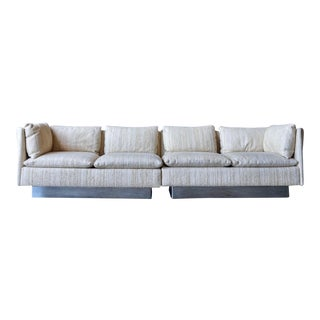 Milo Baughman Curved Back Sofa