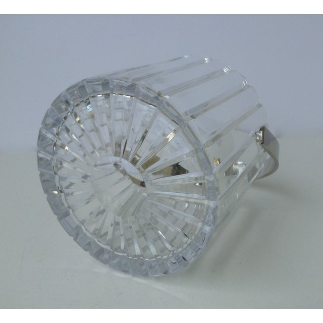 Crystal Faceted Ice Bucket With Chrome Handle - Image 8 of 11