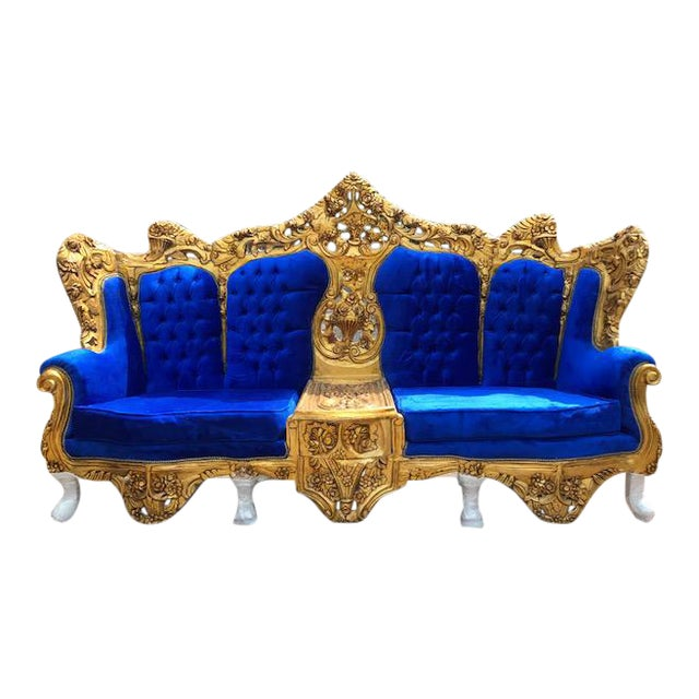 Giant Sofa Rococo Style Bench Royal Sofa Wood Baroque French Louis Xv Carved Antique Furniture Sofas/chaises