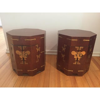 Vintage Asian Style Side Tables - a Pair Preview