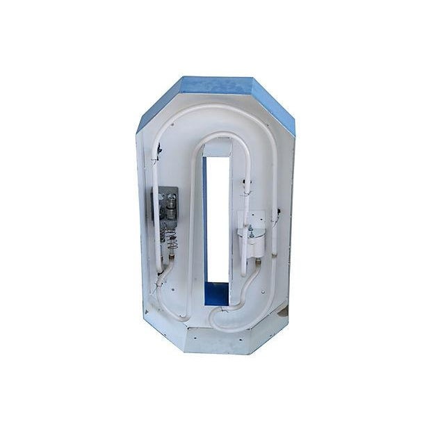 """Large 30"""" Tall Vintage Industrial Blue & White Metal Marquee Letter O For Sale In Los Angeles - Image 6 of 6"""