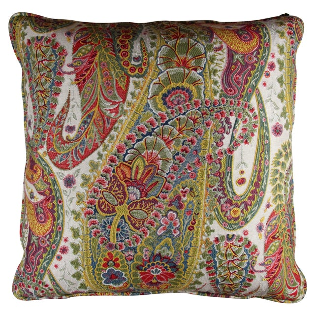 Multi Color Paisley Pillow - Image 1 of 5
