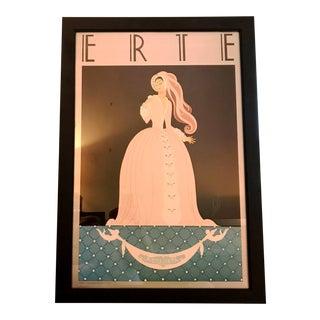 1980s Vintage Erte Serigraph Print For Sale