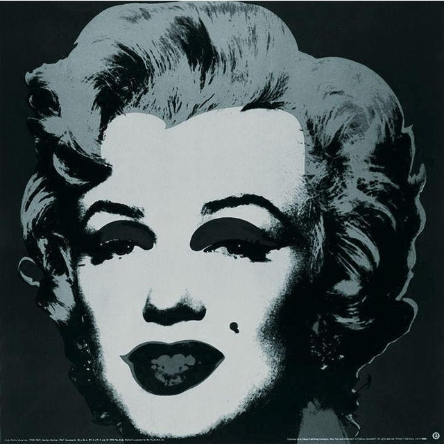 Andy Warhol-Marilyn Black #24-1989 Poster For Sale