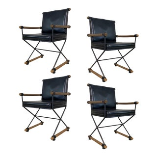 1960s Directors Chairs in the Style of Cleo Baldon - Set of 4 For Sale