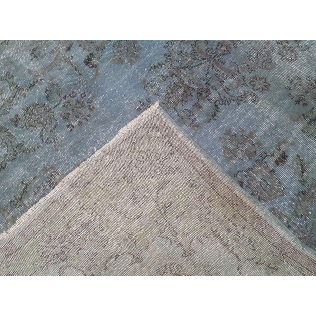 Turkish Overdyed Patchwork Rug - 6′4″ × 9′9″ - Image 6 of 6