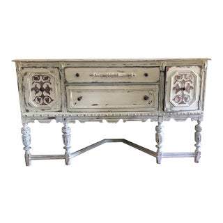 Vintage Rustic Cream Sideboard/Buffet For Sale