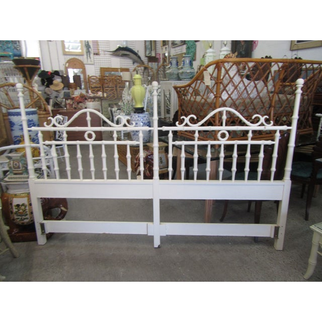 1970s 1970s Faux Bamboo King Size Headboard For Sale - Image 5 of 8