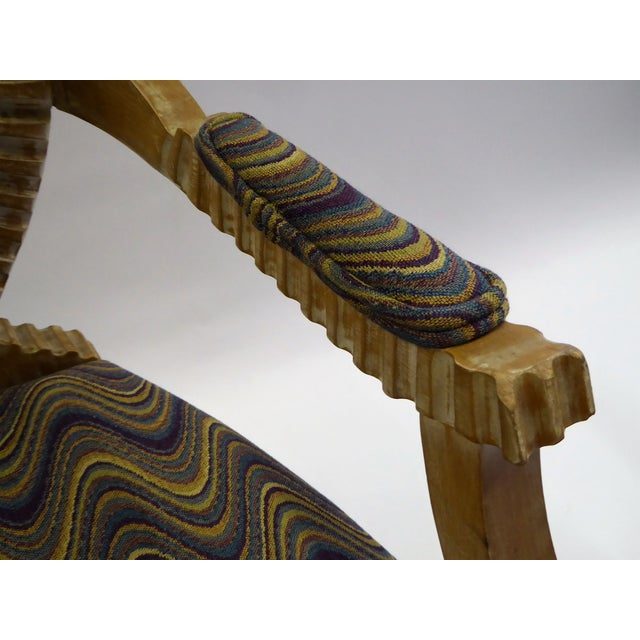 Raffia Modern Adaption of Louis XIV Roi Soleil Bergere Armchair , C. 1980s For Sale - Image 7 of 12