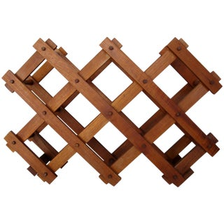 Teak Wood Wine Rack