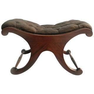 George IV Double C-Frame Mahogany Stool For Sale