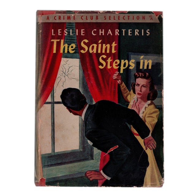 """1940s 1943 """"The Saint Steps In"""" Collectible Book For Sale - Image 5 of 5"""