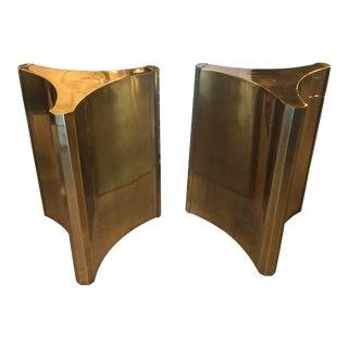 Vintage Brass Pedestal Mastercraft Dining Table or Desk Base -A Pair