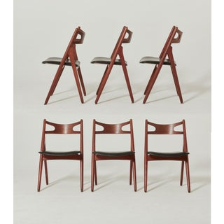 Vintage Mid Century Hans Wegner Ch-29 Sawbuck Dining Chairs- Set of 6 Preview
