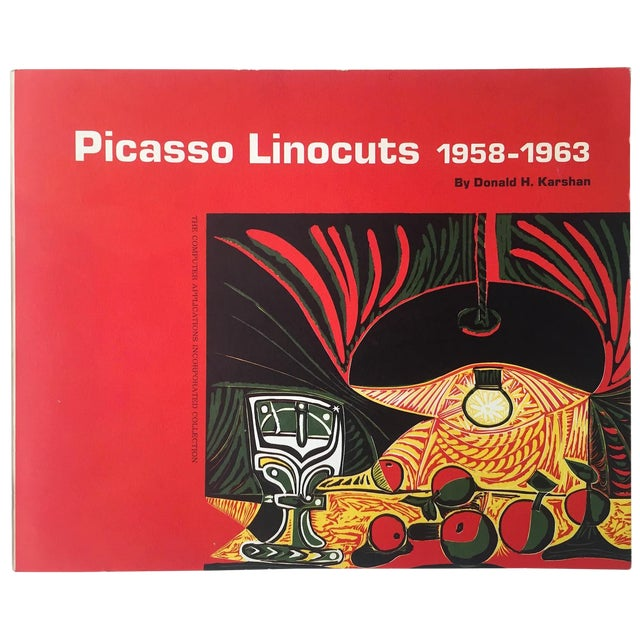 """ Picasso Linocuts 1958 - 1963 "" Rare Vintage 1968 1st Edition Lithograph Print Collector's Exhibition Art Book For Sale"