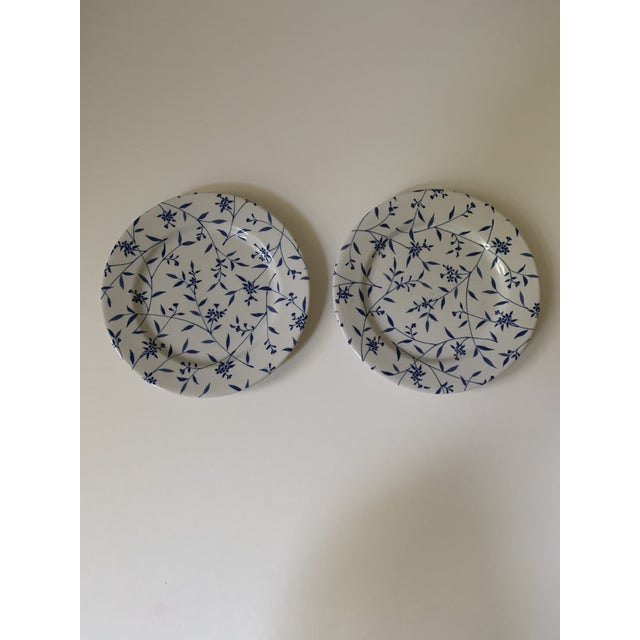 Windsor Browne Furio Blue White Flower Stoneware Dishes - Set of 5 For Sale - Image 4 of 8