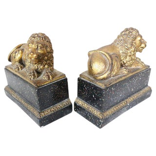 Lion Bookends, Pair For Sale