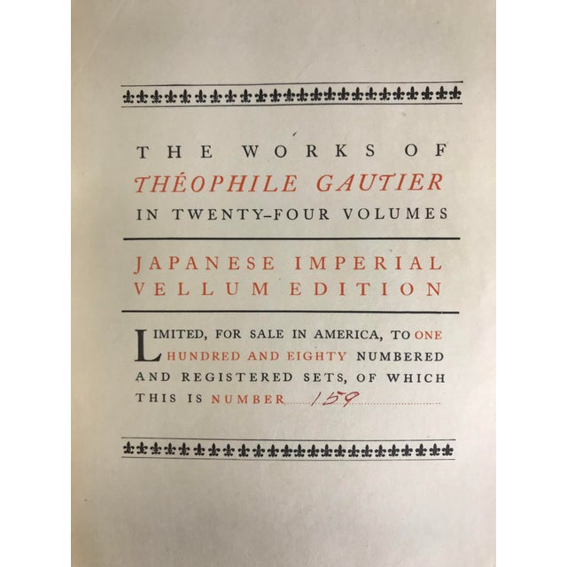 Rare & Beautiful Decorative Binding - Set 24 Volumes - Works of Theophile Gautier Ilustrated For Sale - Image 10 of 13