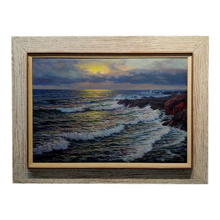 Vartan Mahokian - Seascape Magic Sunset - Oil Painting - C.1920s For Sale