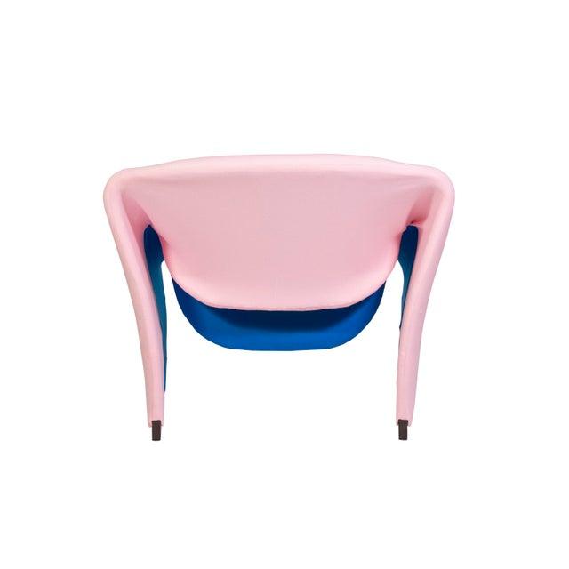 Pierre Paulin Oscar De La Renta Cashmere Upholstered Chairs & Ottomans- 4 Pieces - Image 4 of 10
