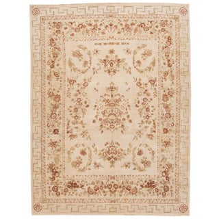 """Contemporary Indian Tabriz Rug, 8'8"""" X 11'4"""" For Sale"""