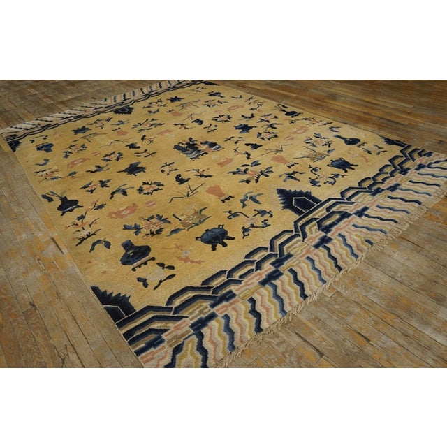 Antique Chinese - Ningxia Rugs 7' 8'' X 11' 0'' For Sale - Image 4 of 5