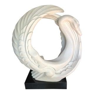 Vintage 1989 Austin Productions Swan Le Cygne Statue For Sale