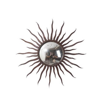 Portuguese 19th Century Metal Starburst Mirror For Sale