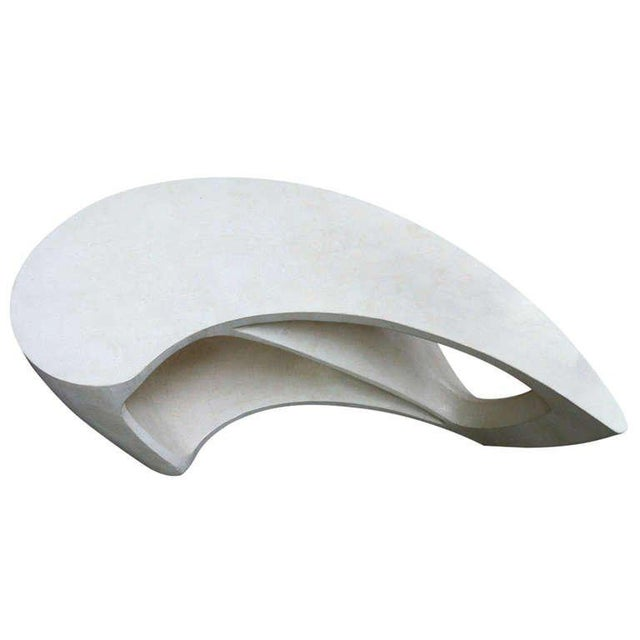 Awesome boomerang shaped coffee table.