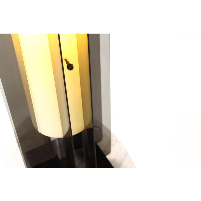 Acrylic Mid Century Vintage Space Age Floor Lamp For Sale - Image 7 of 10