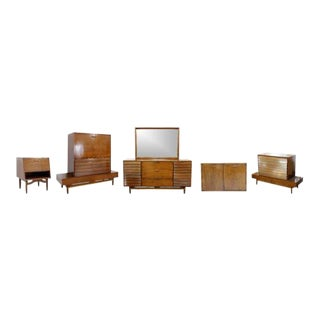 Mid Century Modern Dania American of Martinsville Merton Gershun Bedroom Set
