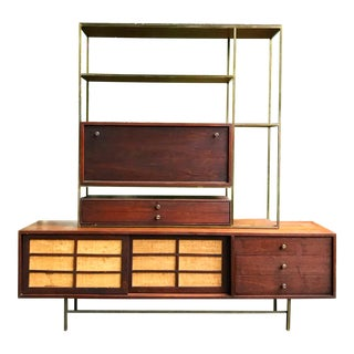 1950s Mid Century Modern Paul McCobb Style Credenza or Room Divider For Sale