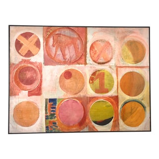 1970s Hugh Campbell Abstract Oil Painting For Sale