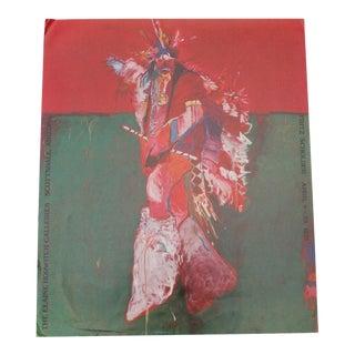 Vintage Fritz Scholder 1978 Exhibition Poster For Sale