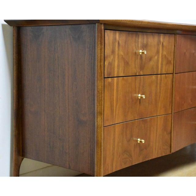 Forward Furniture by Unagusta Walnut Dresser For Sale - Image 4 of 11