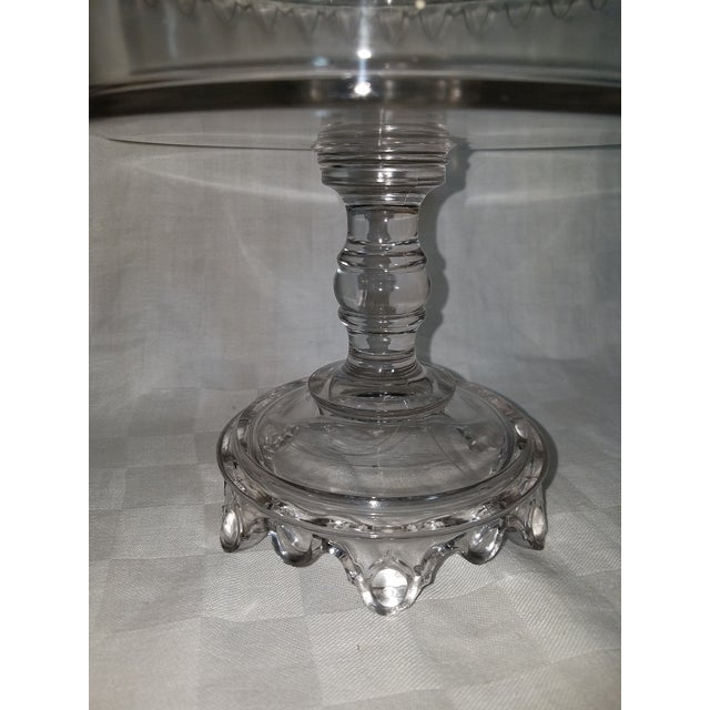 Flint Glass Biscuit Compote , 19th Century For Sale - Image 4 of 6