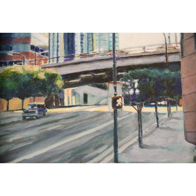 """""""Bonaventura Hotel Downtown LA"""" Original Oil Painting by Steve Metzger For Sale In Los Angeles - Image 6 of 9"""