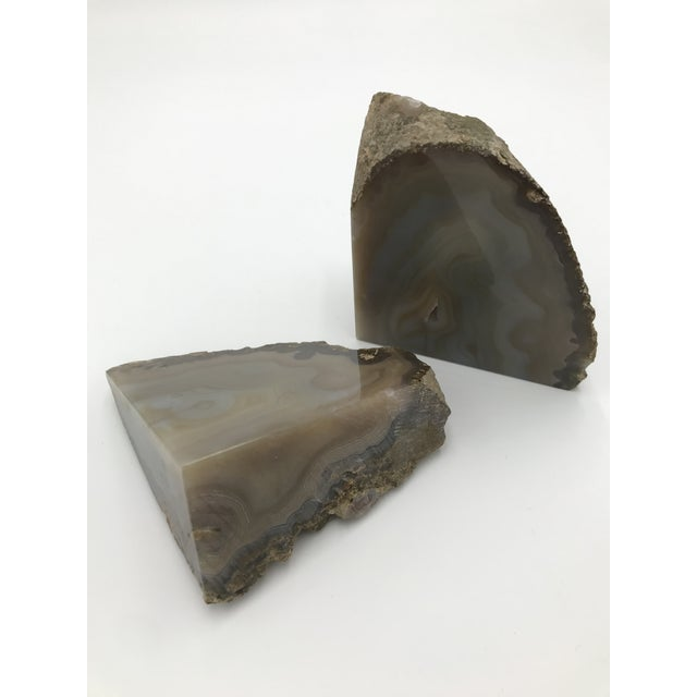 Shabby Chic Contemporary Agate Bookends - a Pair For Sale - Image 3 of 5