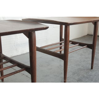 Mid-Century Modern Walnut Side Tables - a Pair Preview